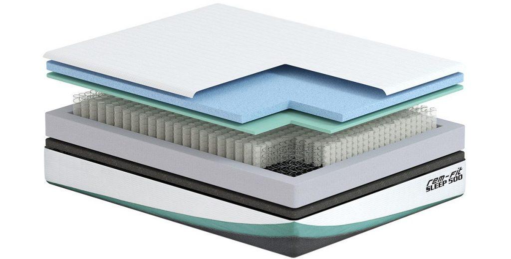 rem fit 500 mattress materials