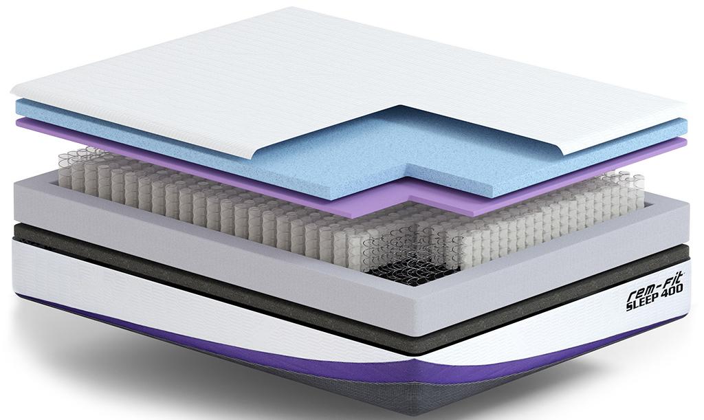 rem fit 400 mattress materials