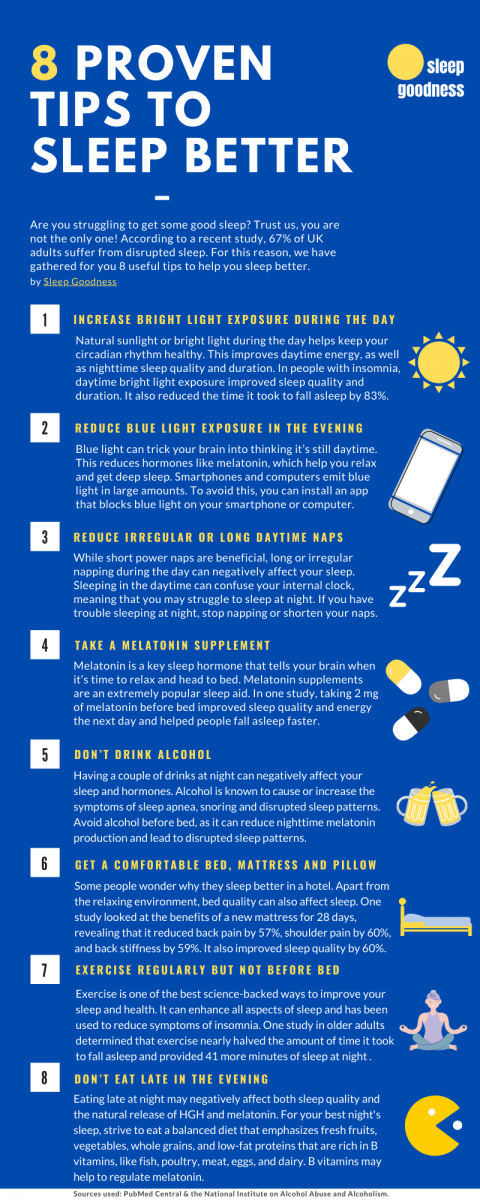 8 tips to sleep better